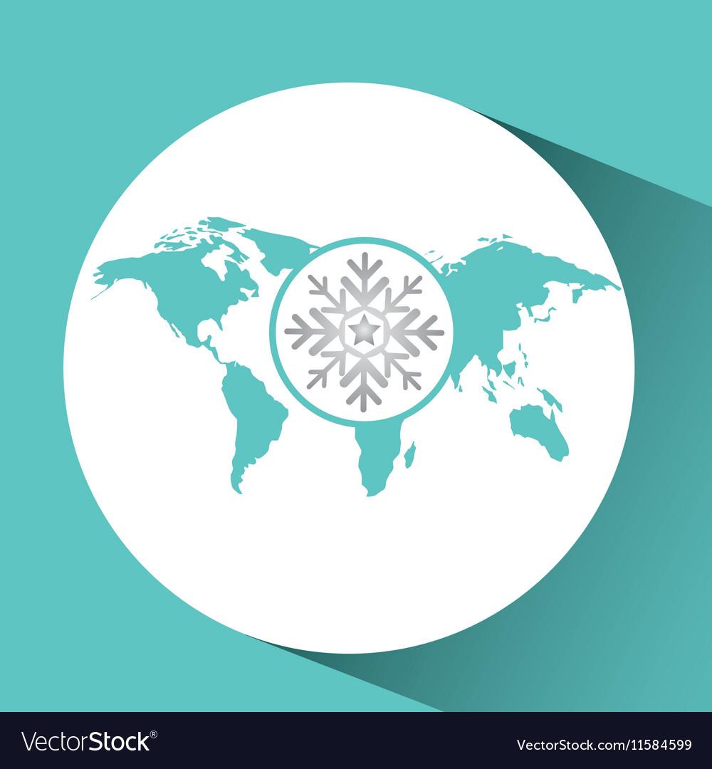 Weather concept forecast icon design