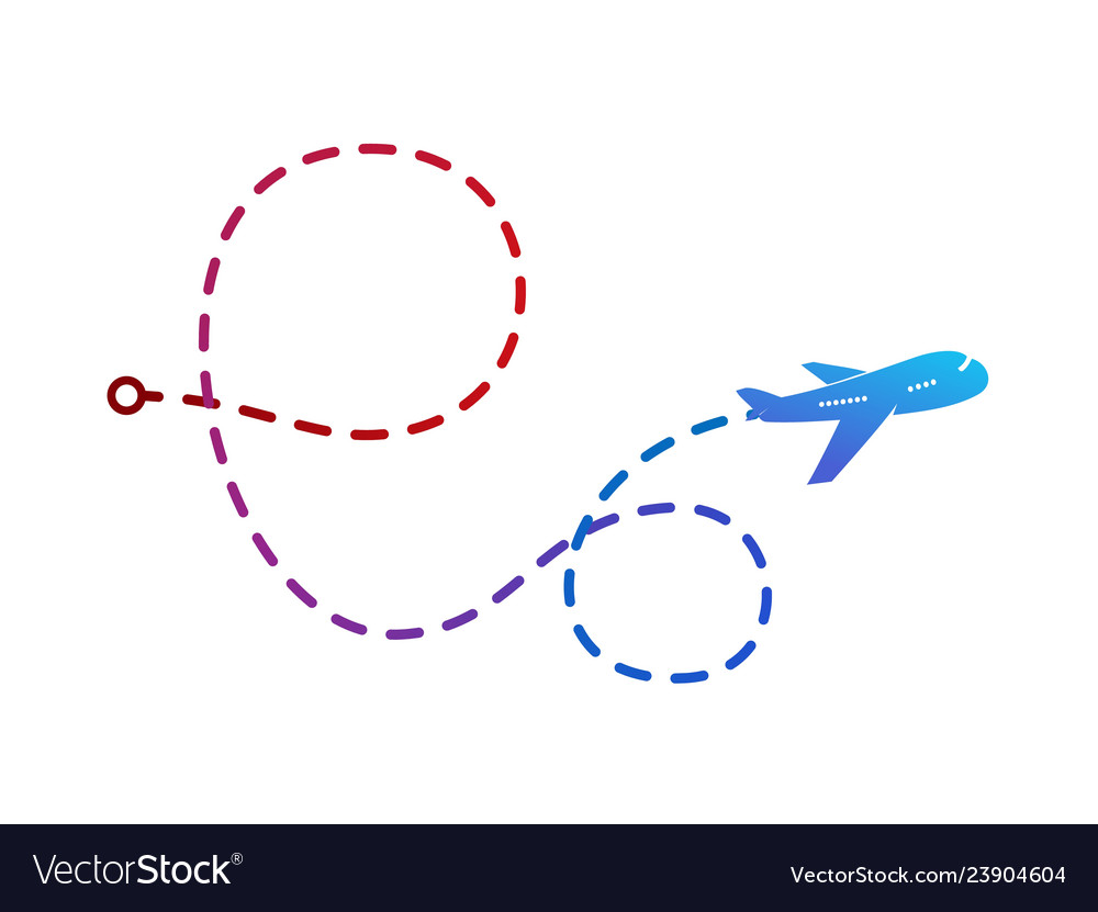 Airplane logo on color of