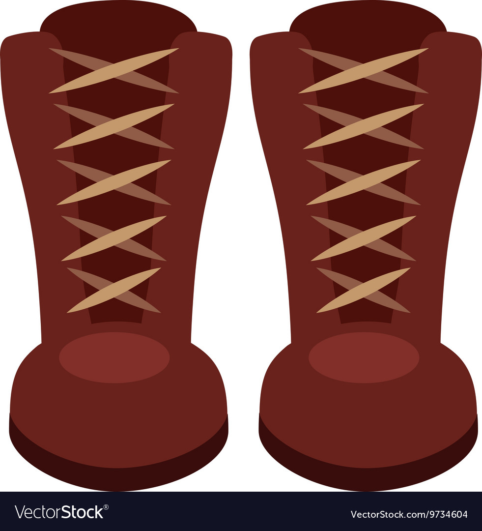 Boots fashion isolated icon design