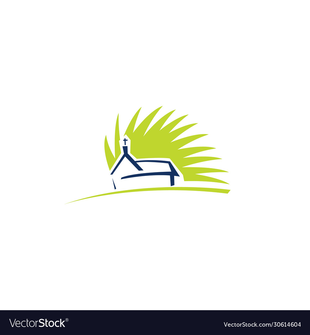 Church building logo design