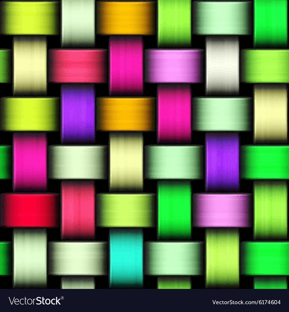 Colorful knitted texture vector image