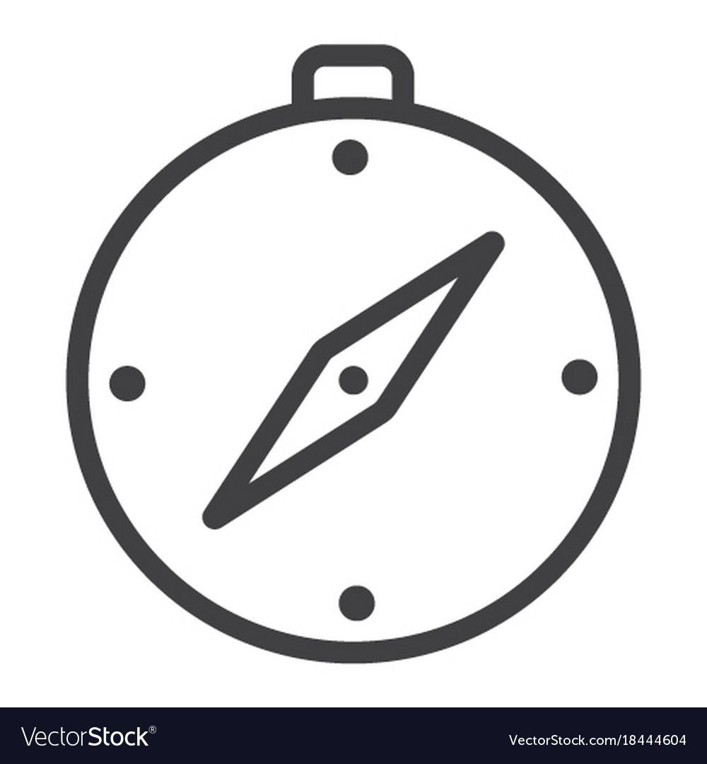 Compass line icon web and mobile map sign vector image