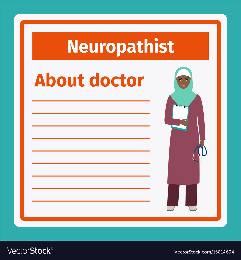 Medical notes about neuropathist