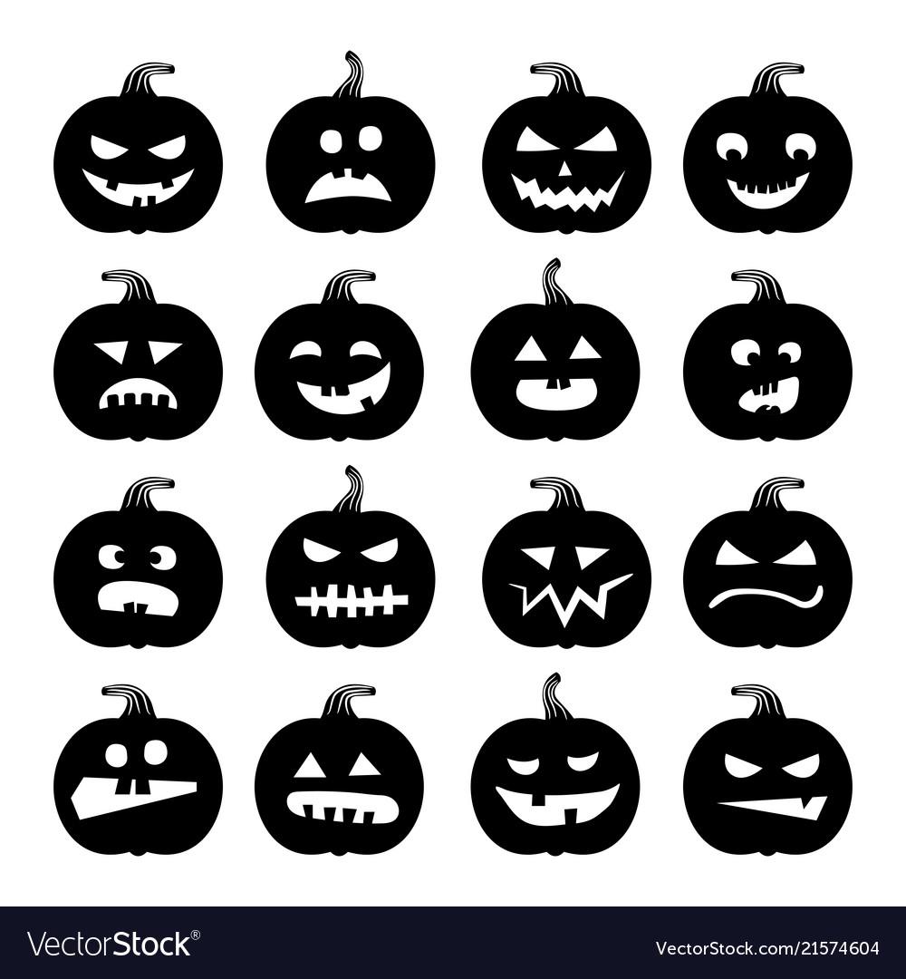 Halloween Pumpkin Vector.Pumpkins Icons Halloween Pumpkin