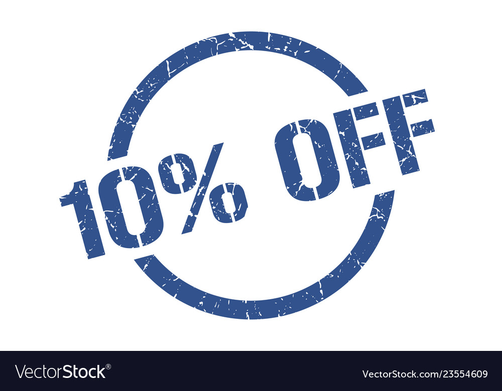 10 off stamp Vector Image