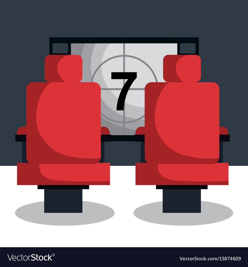Cinema entertainment flat icons