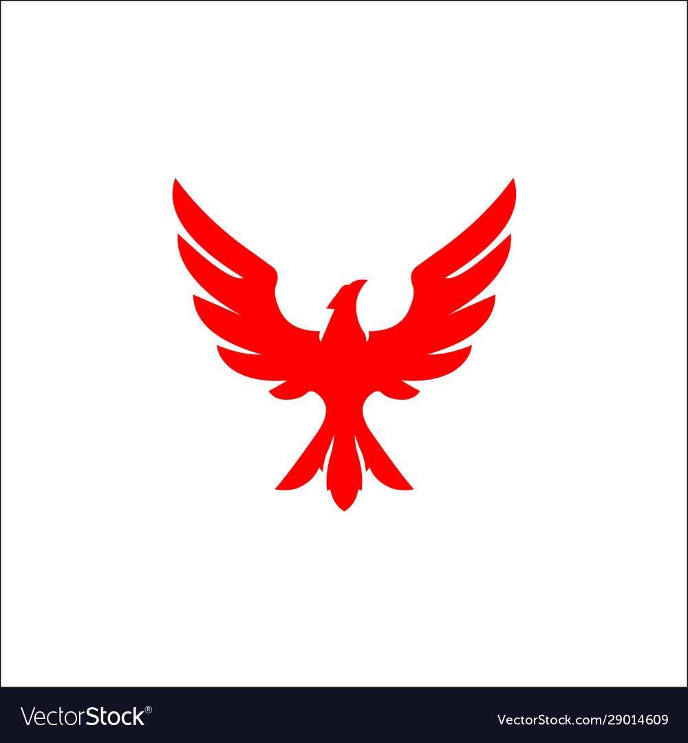 Falcon eagle bird logo template icon