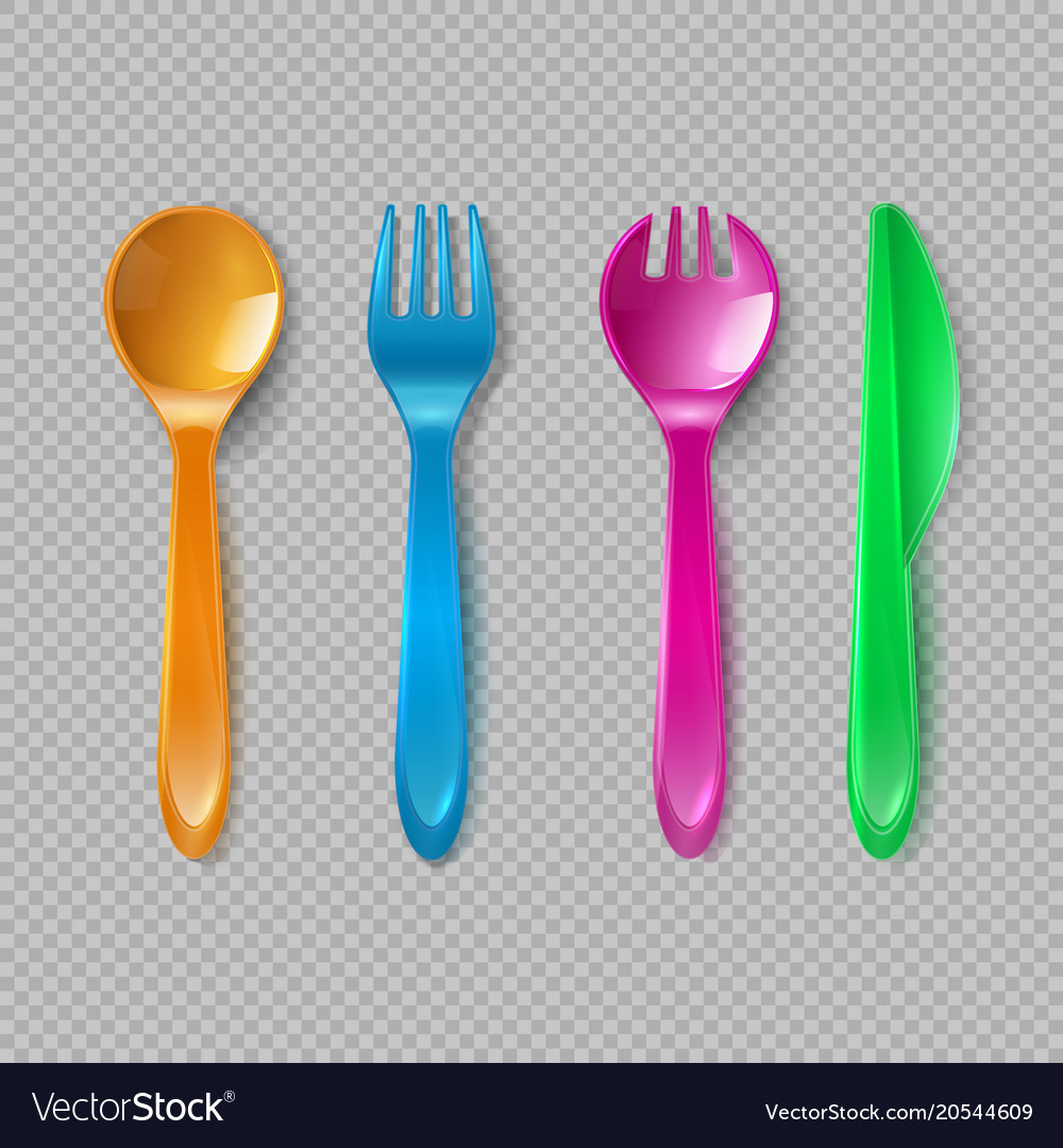 Kids plastic cutlery little spoon fork and knife