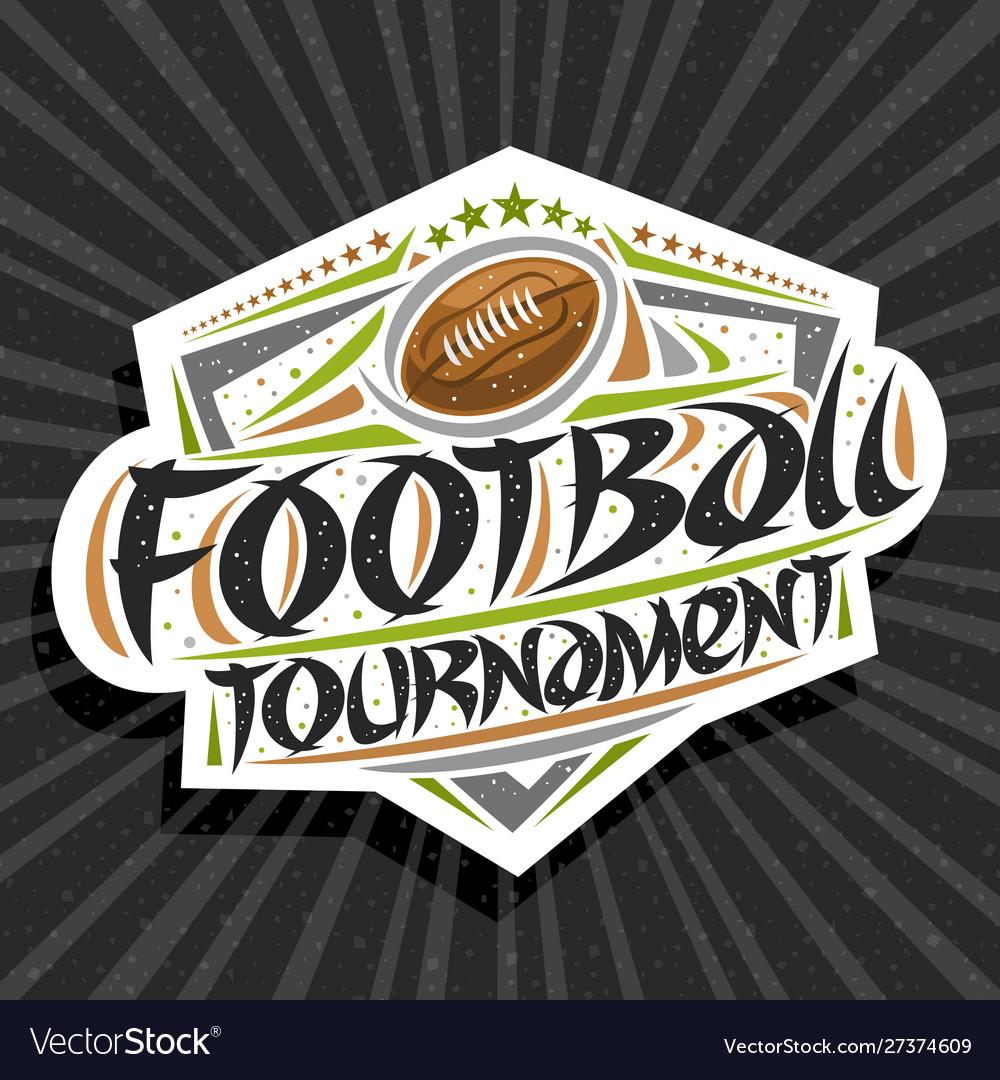 Logo for american football tournament