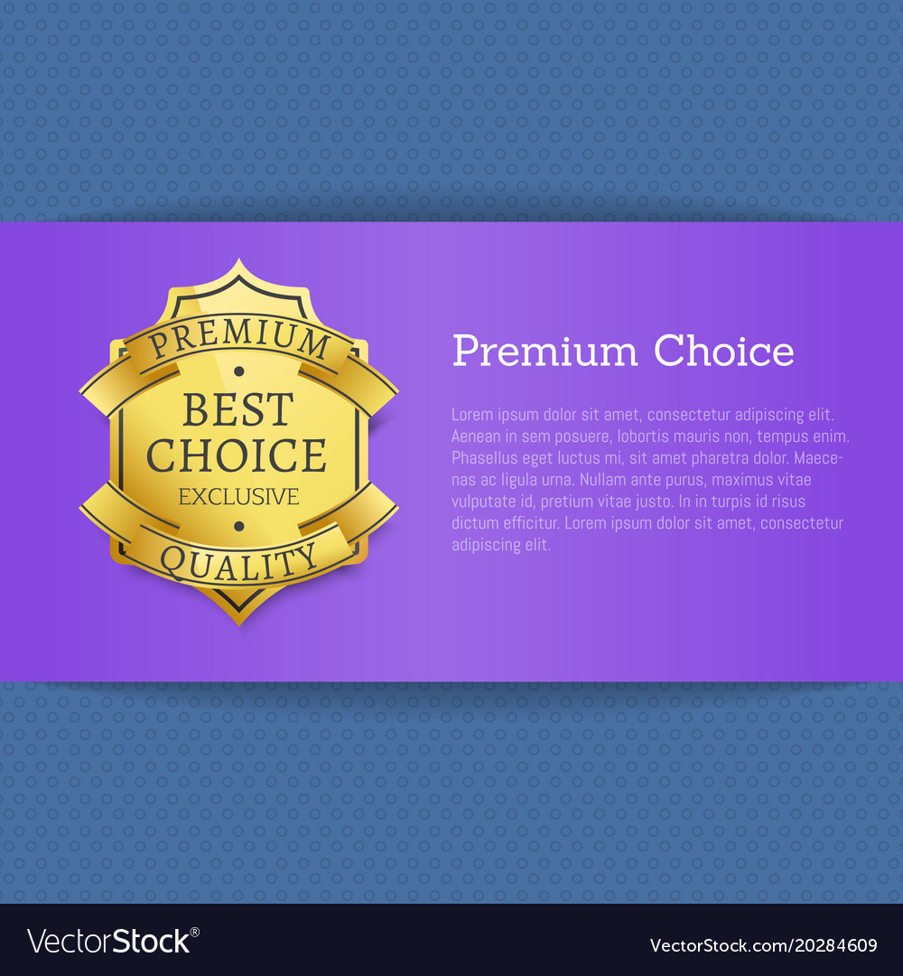 Premium choice best exclusive quality stamp label