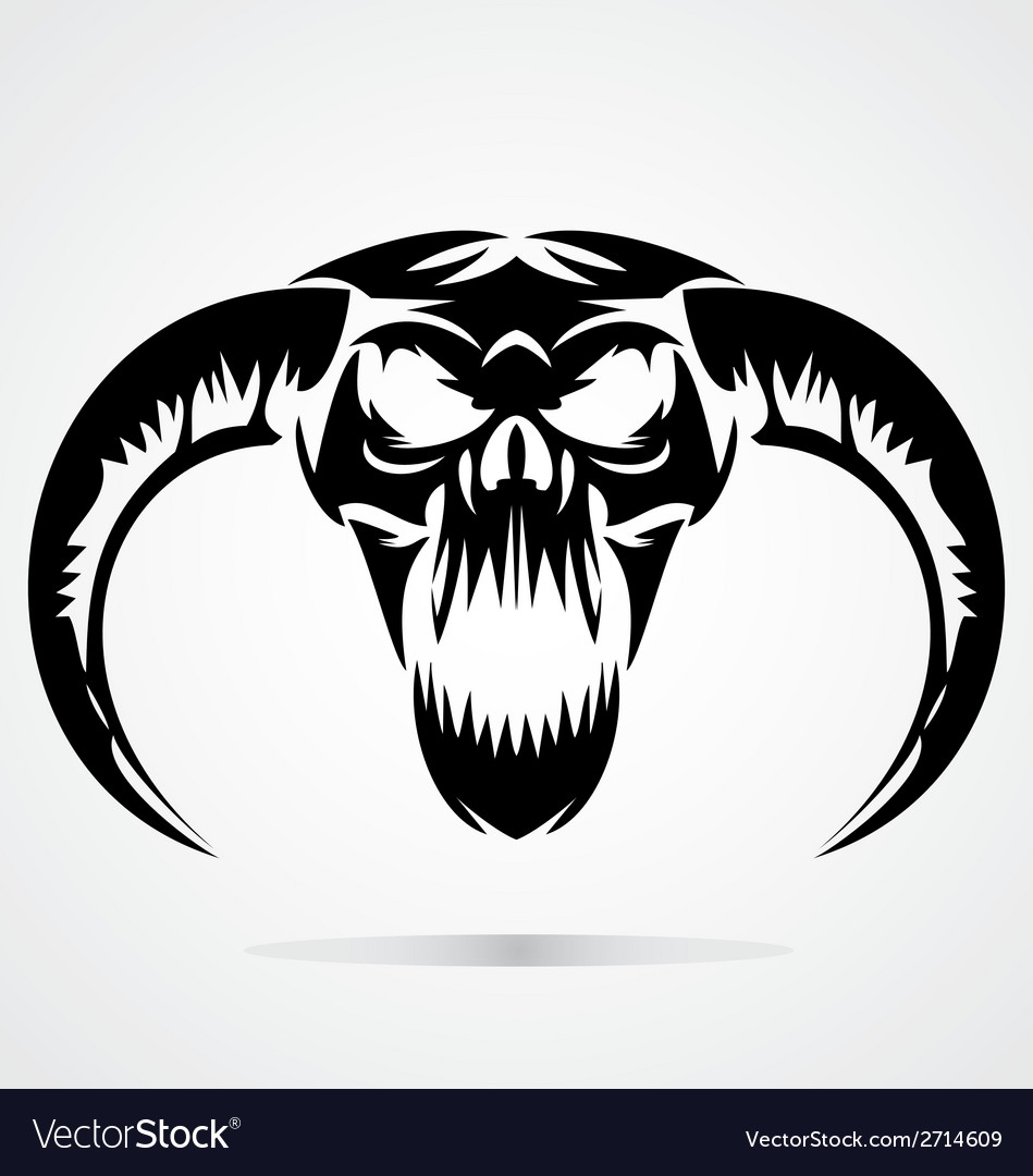 Scary Demon Skulls