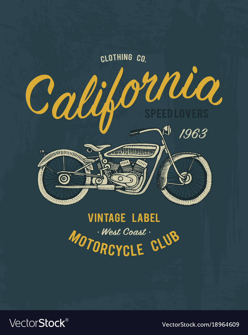 Tee print motorcycle or transport t-shirt