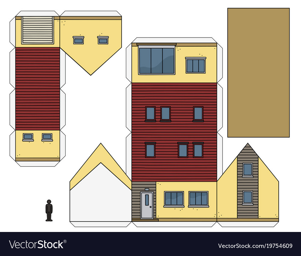The Paper Model Of A House Vector Image