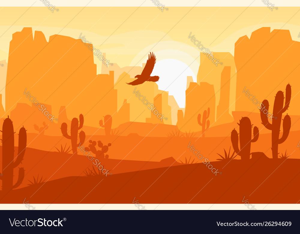 Wild west texas desert landscape