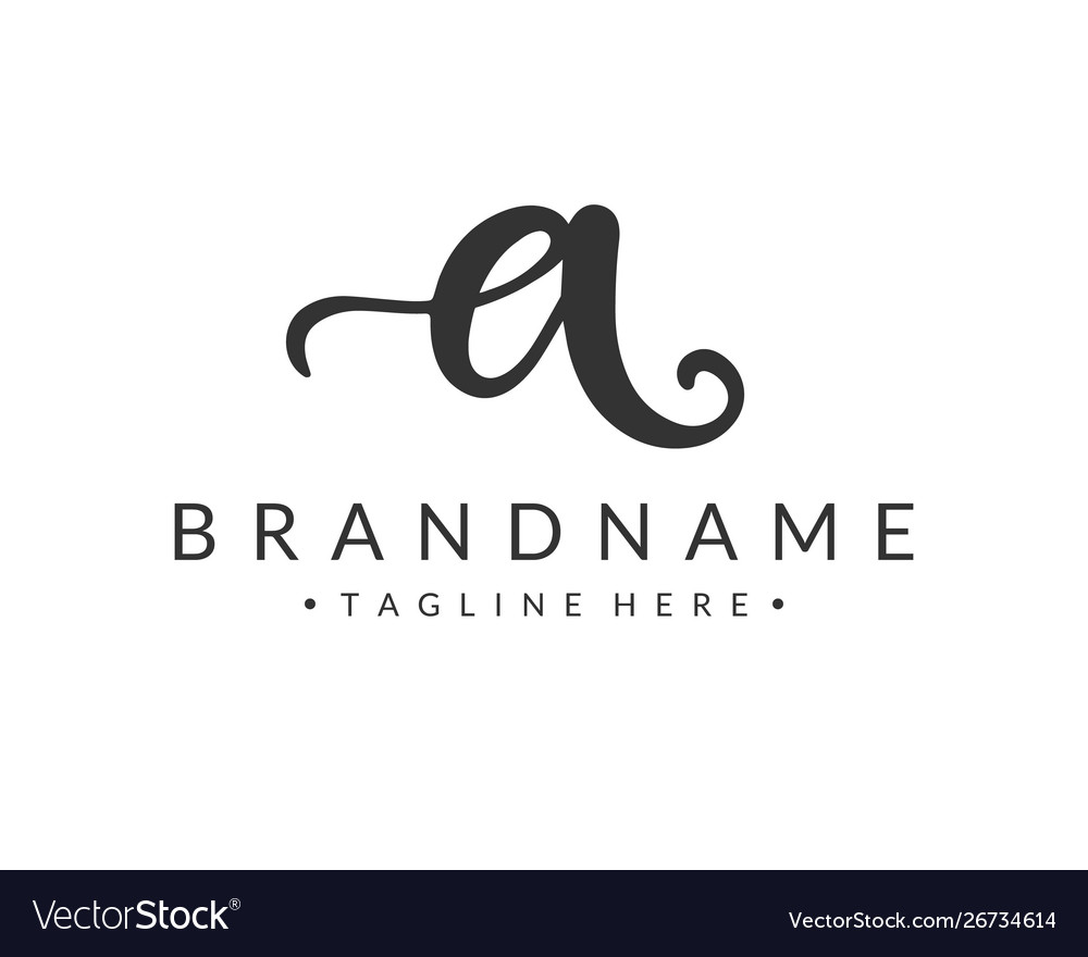 A letter logo design template vector