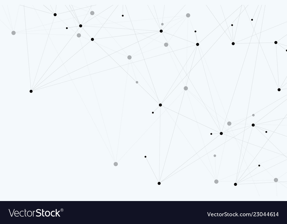 Abstract polygonal background with connected lines