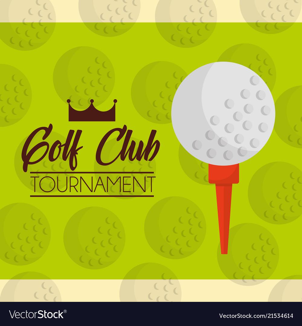 Ball on a tee golf club tournament green balls