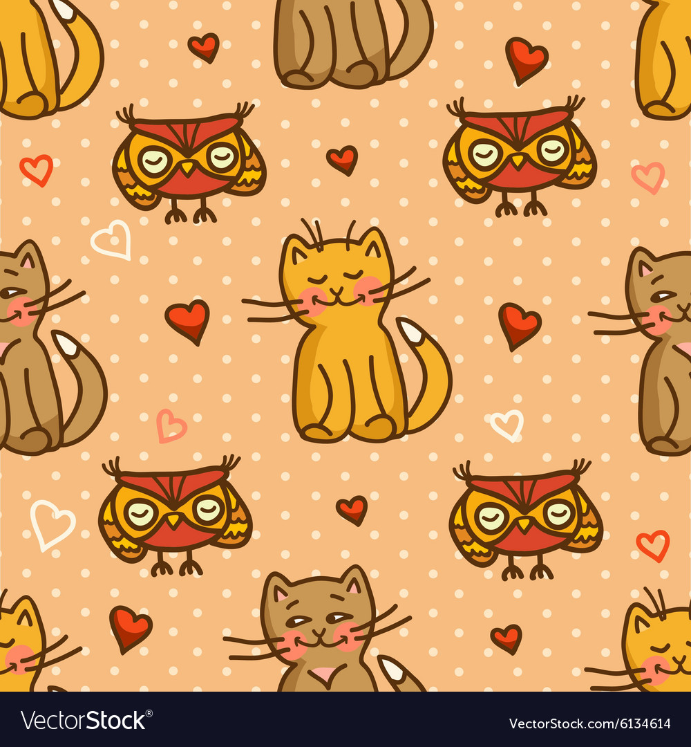 Cute valentines seamless background