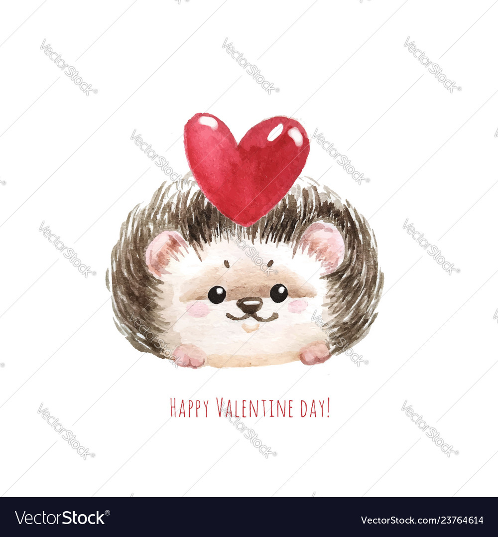 Holiday card with hedgehog