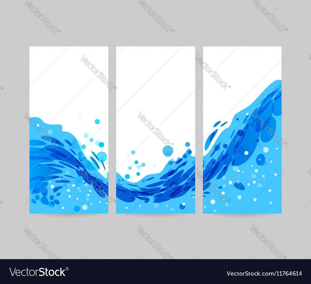 set wave background brochure design royalty free vector