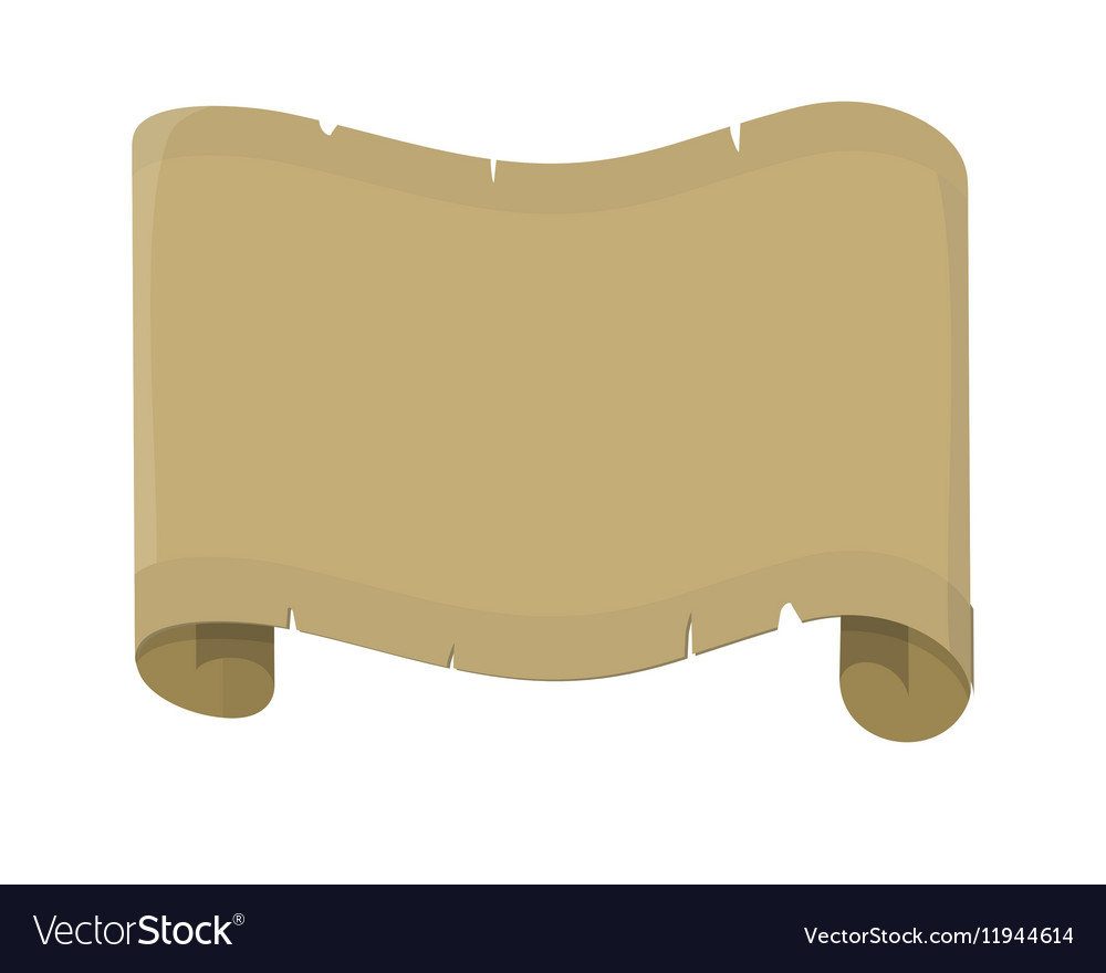 Sheet of Old Paper Flat Design vector image