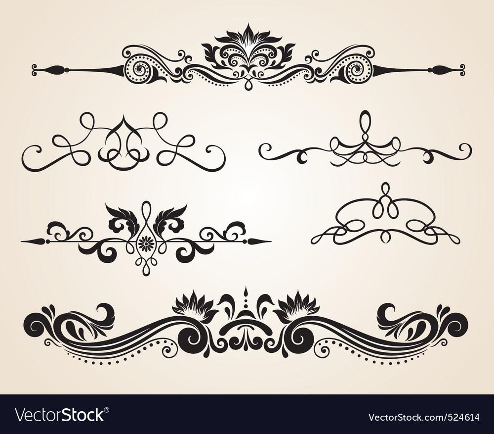 vintage scrolls royalty free vector image vectorstock