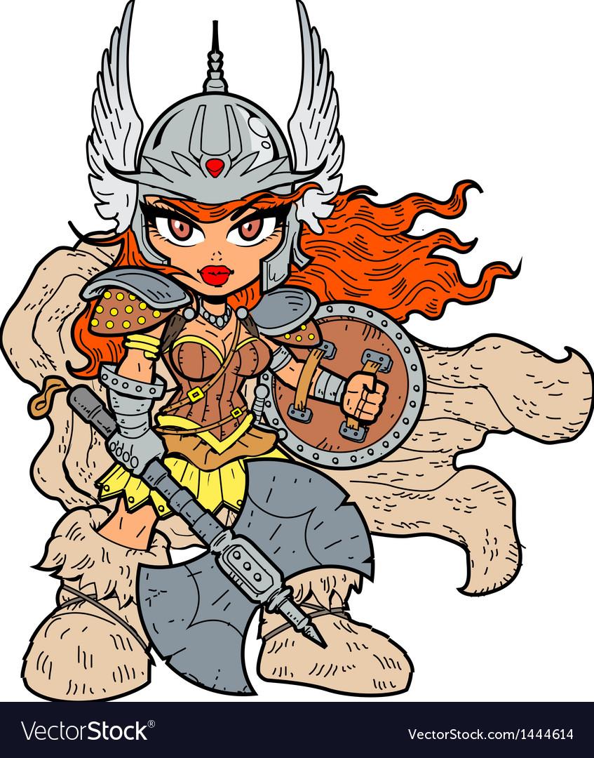 Warrior Princess vector image