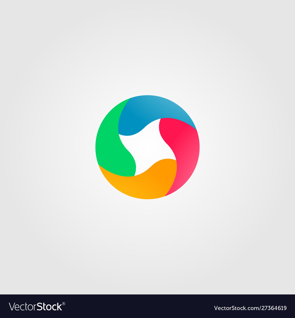 Abstract circle full color logo icon