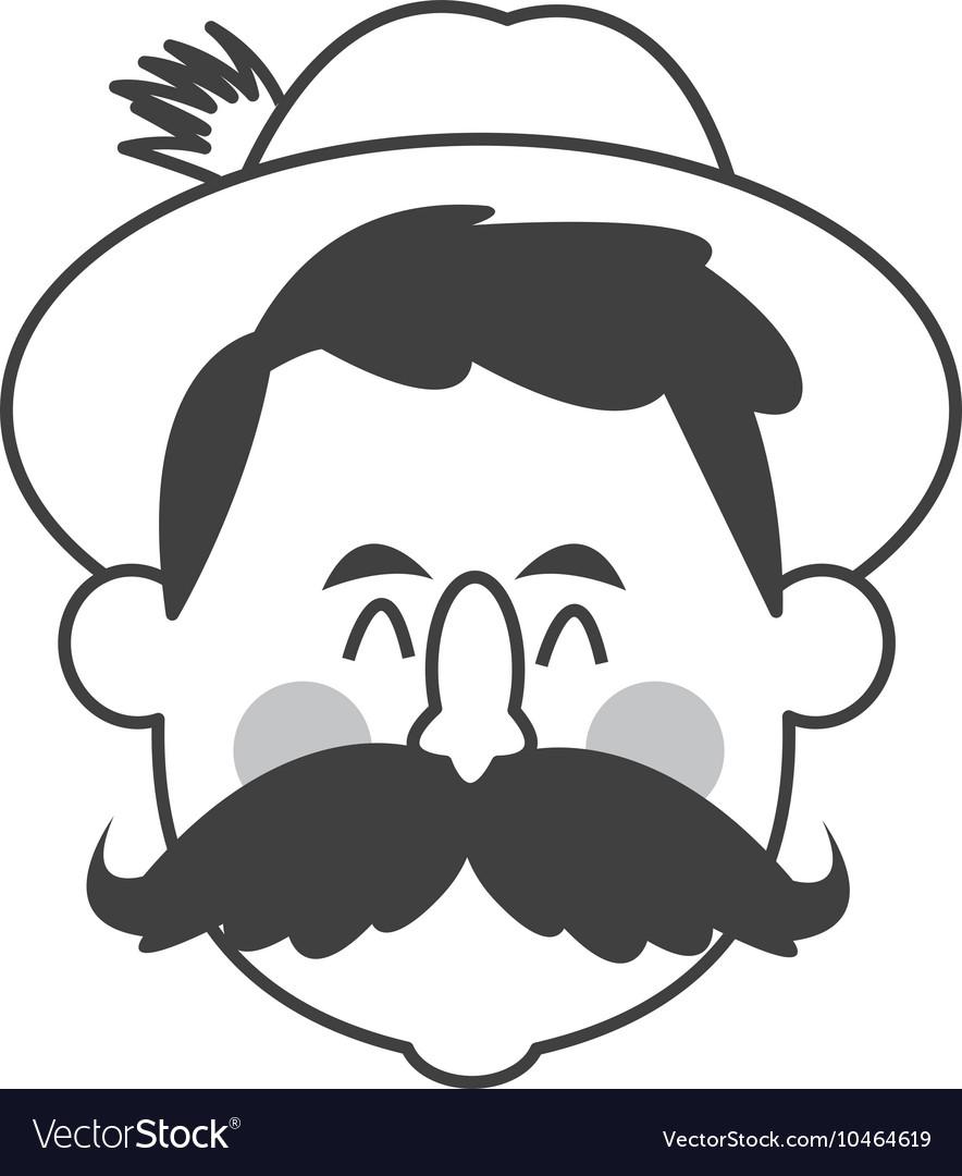 Bavarian man icon