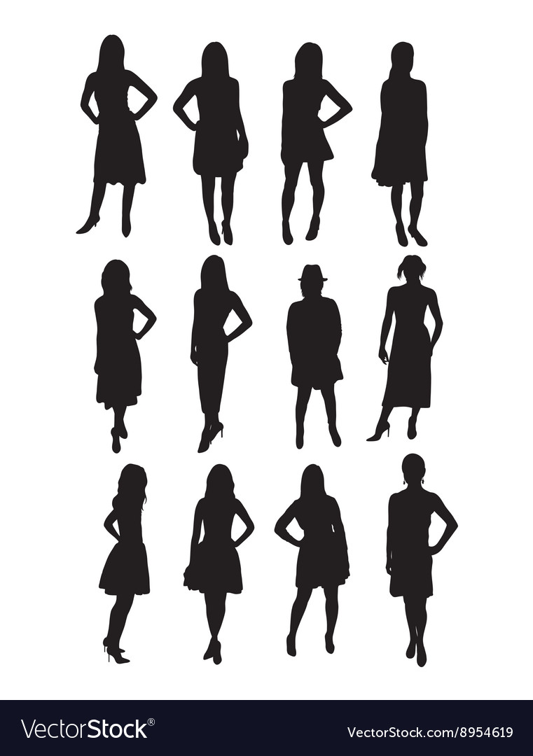 Beauty Model Silhouettes