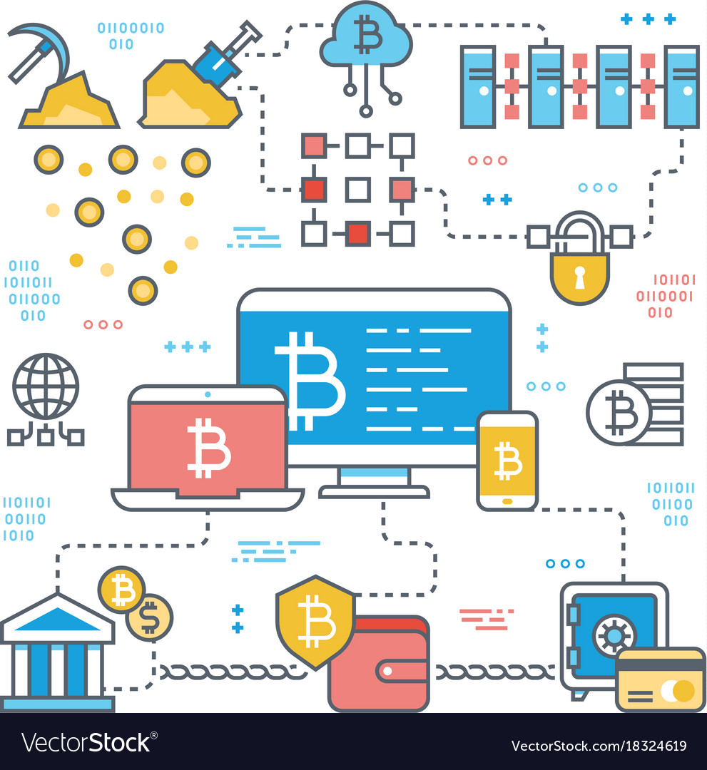 Blockchain and internet cryptocurrency transaction