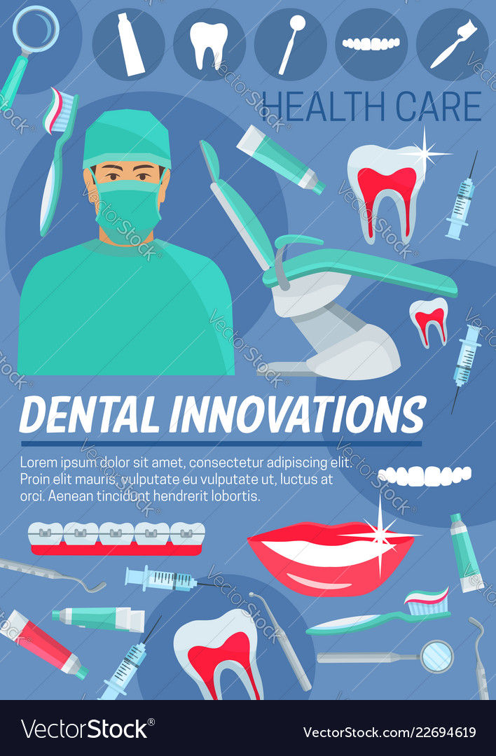 Dental innovations doctor and dentistry tools