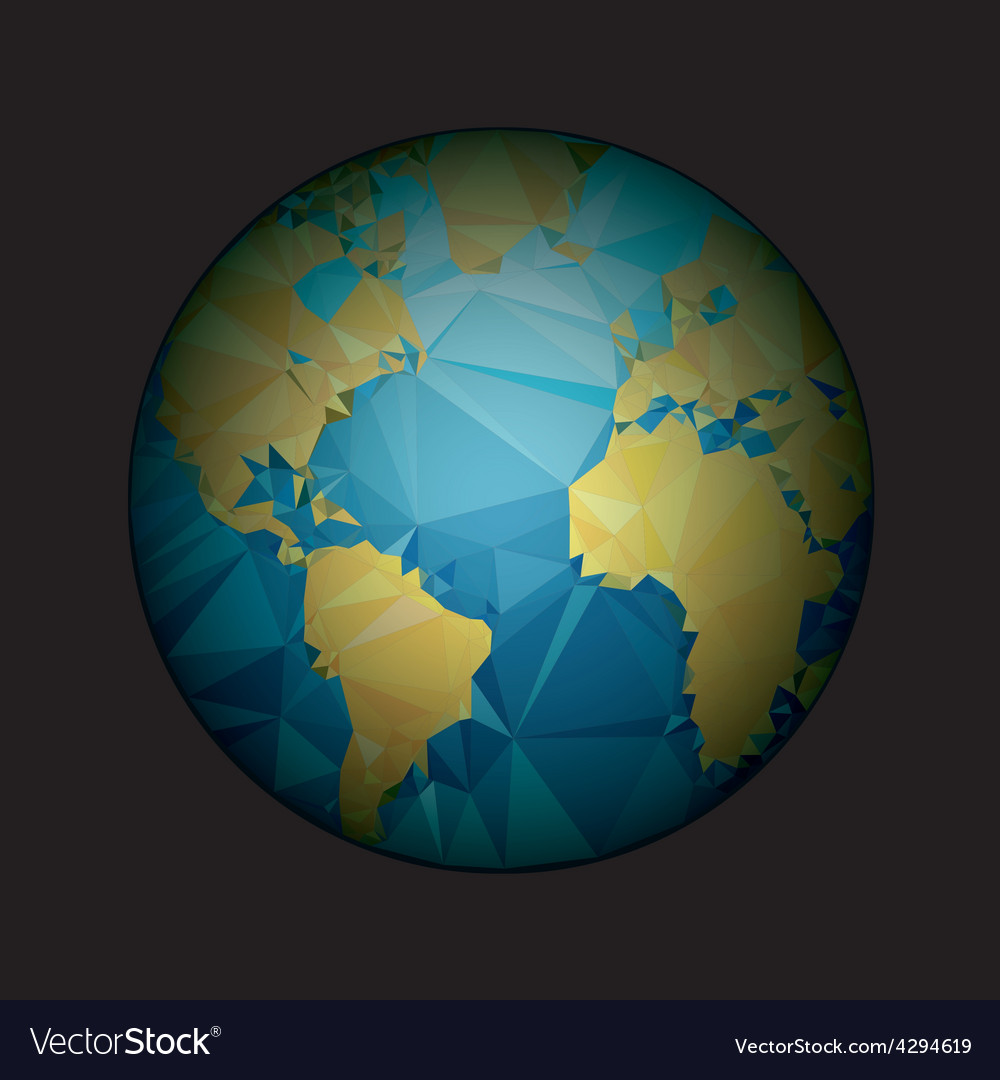 Earth World map Low poly