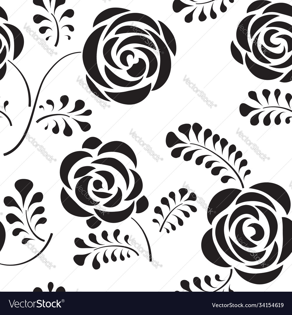 Floral seamless pattern with flower rose abstract