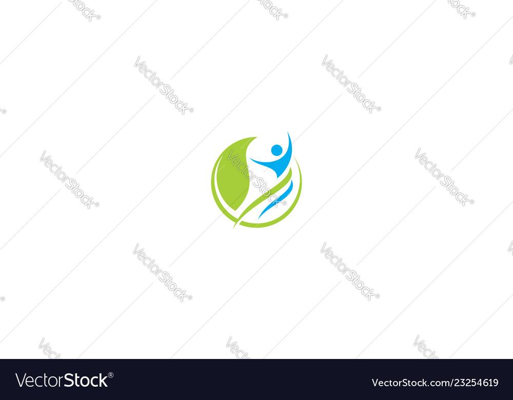 Human health success logo icon