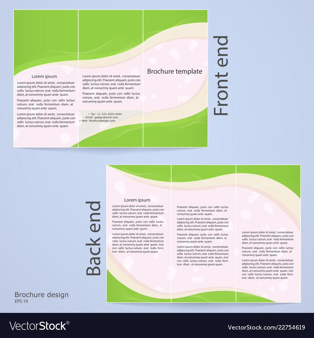 Layout Tri Fold Brochures Royalty Free Vector Image
