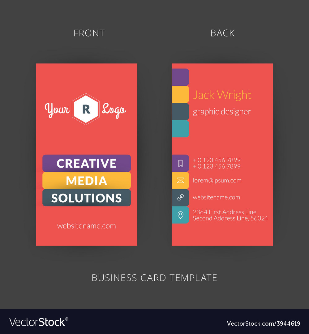 Modern creative and clean business card template vector image colourmoves