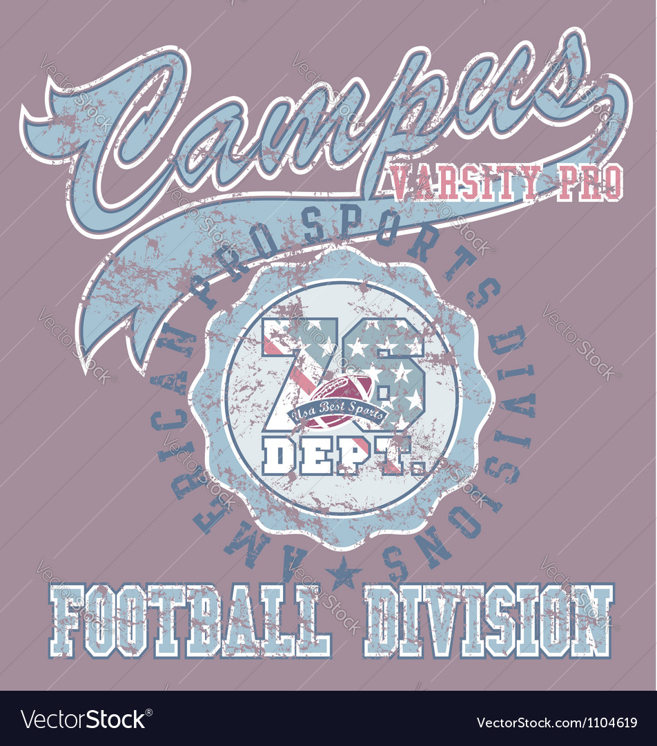 Pro football sport vector image