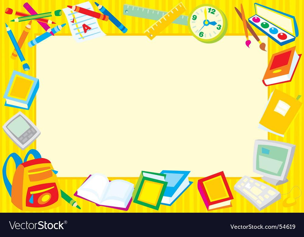 School frame Royalty Free Vector Image - VectorStock