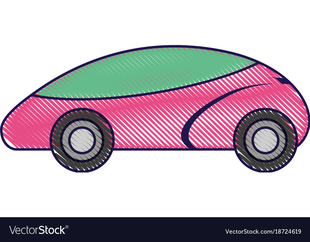 Smart Car Autonomous Self Driving Technology Vector Image