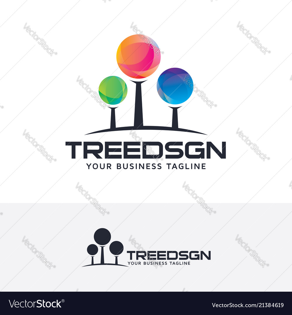 Tree design logo