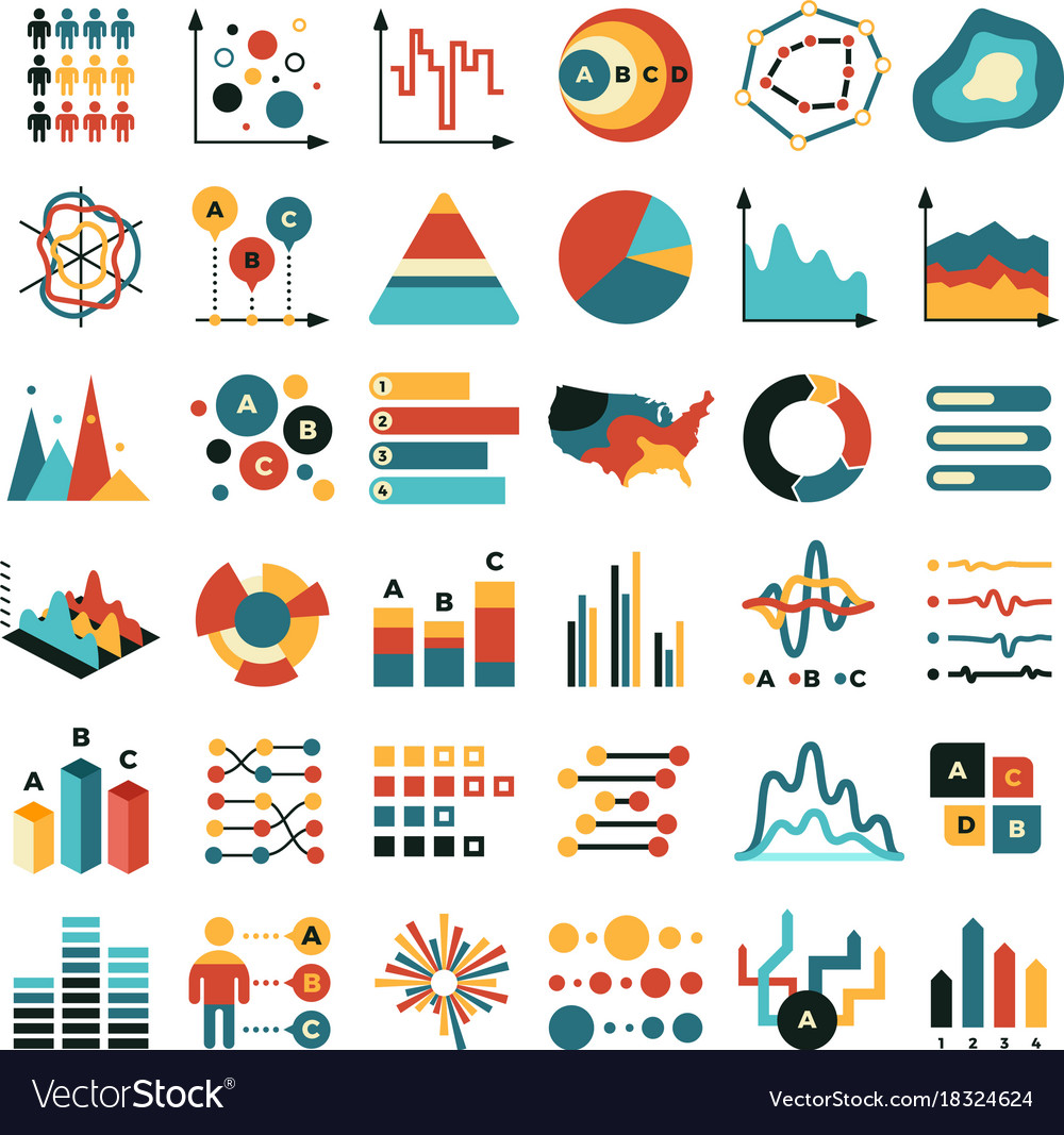 Business data graph and charts marketing
