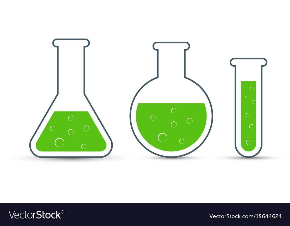 chemistry icon set of icon beaker royalty free vector image rh vectorstock com beaker vector graphic beaker vector icon