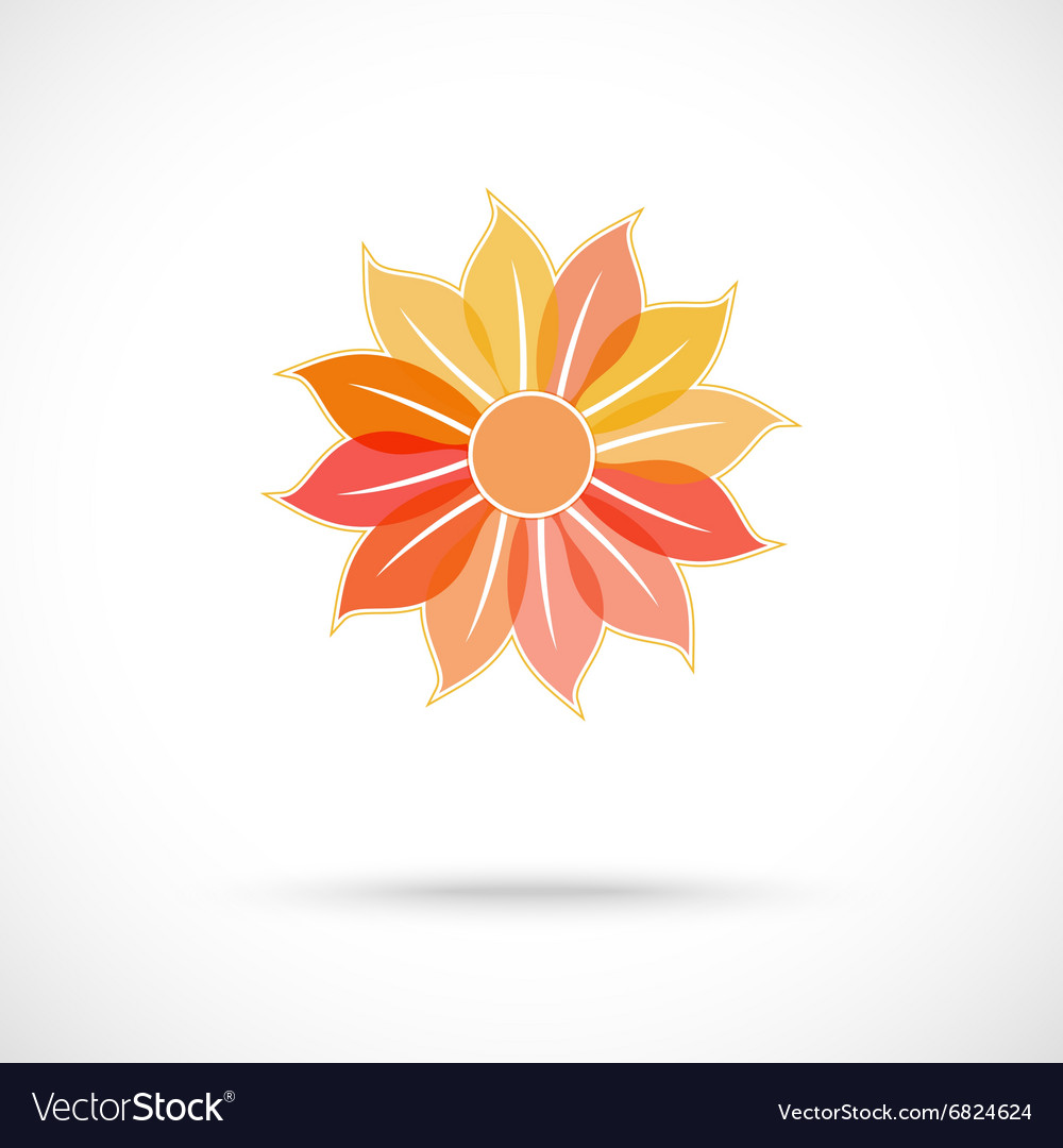 Colorful flower symbol