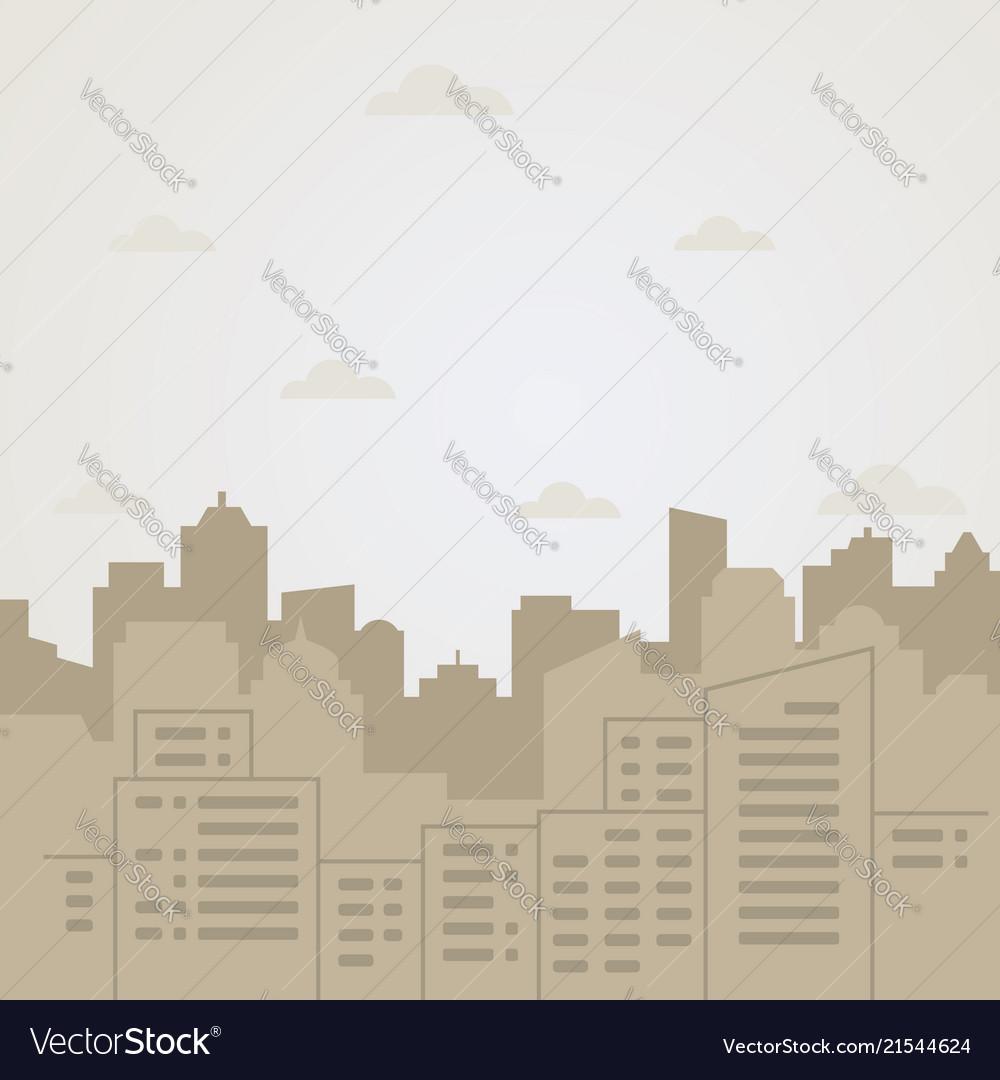 Flat city landscape
