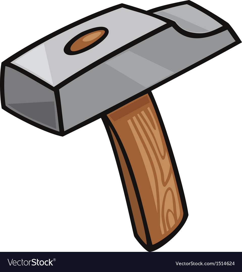 Hammer clip art cartoon vector image