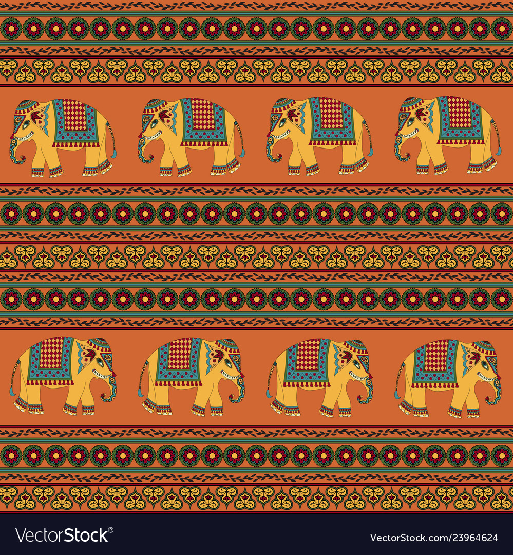 Indian traditional pattern