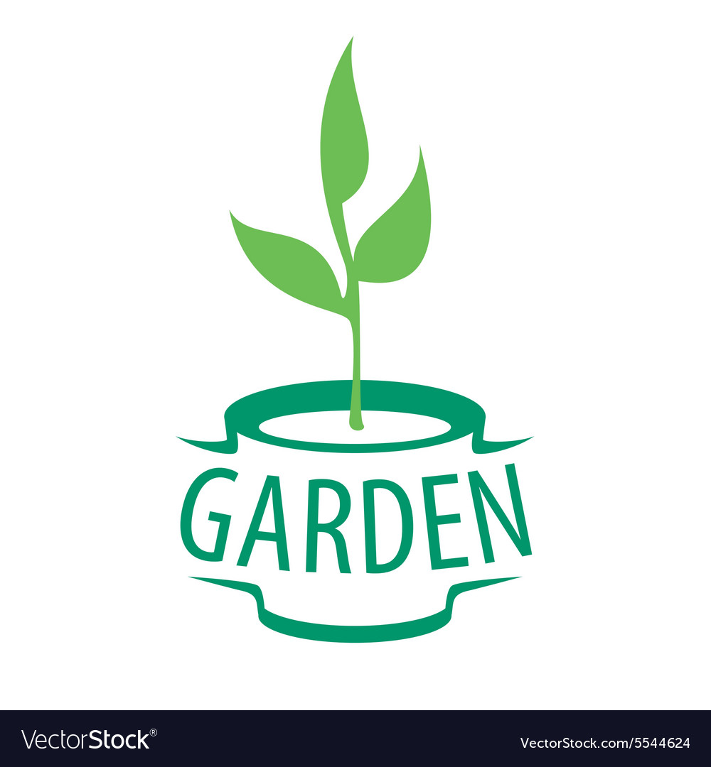 Logo sapling in a pot for the garden