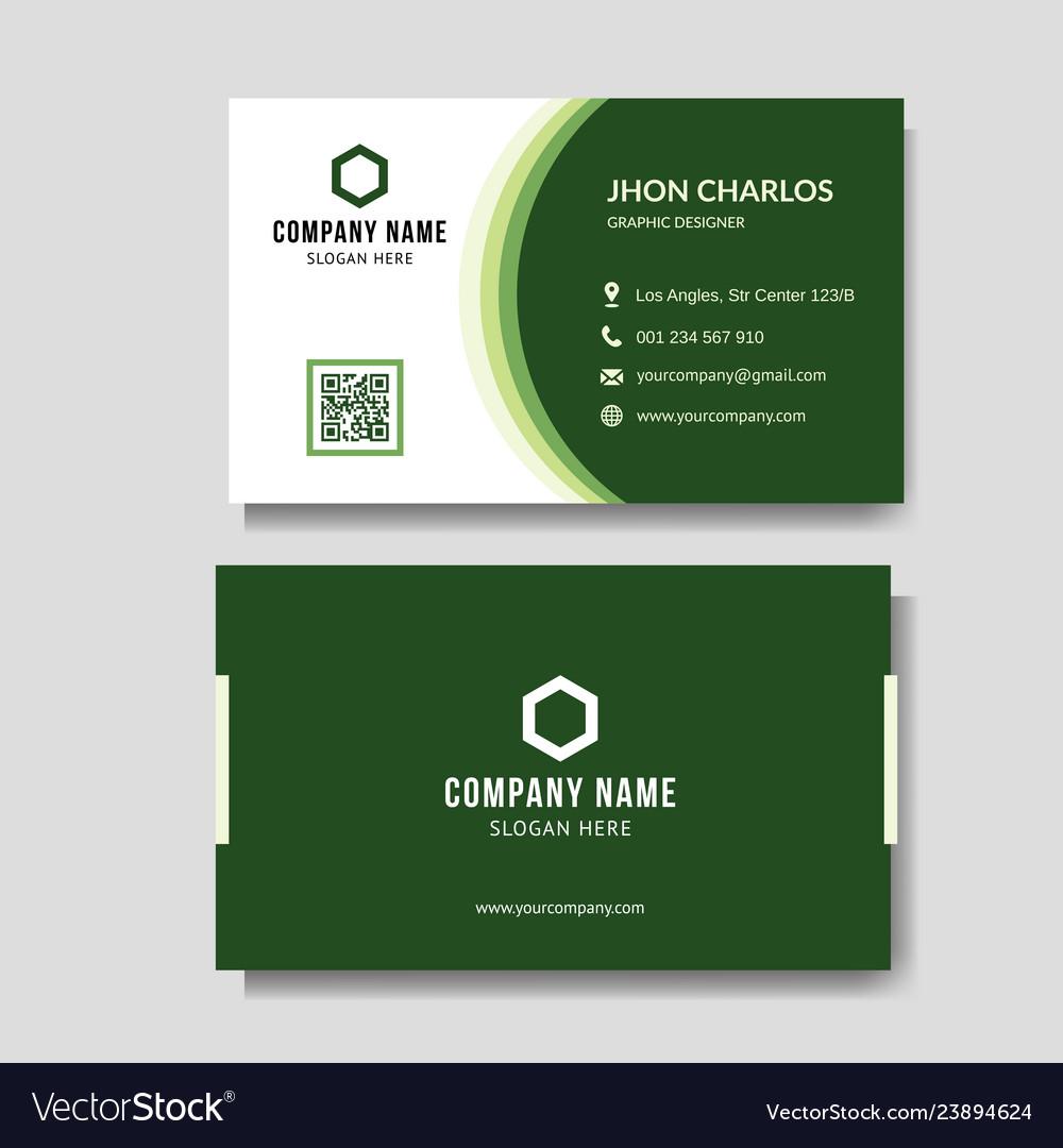 Modern green business card
