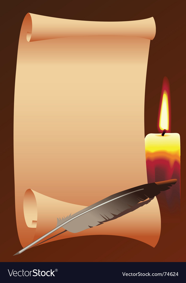 Paper roll and candle vector image